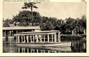 Florida Silver Springs Starting Glass Bottom Boat Trip 1939