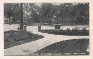 North Entrance Highland Common, Athol, Massachusetts, Early Postcard, Unused