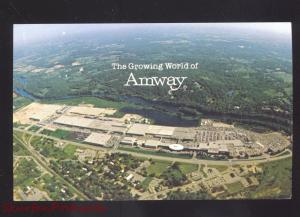 ADA MICHIGAN AMWAY WORLD HEADQUARTERS VINTAGE ADVERTISING POSTCARD