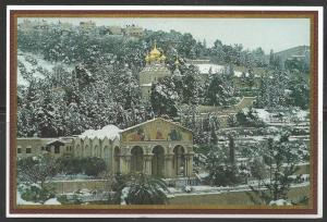 Israel, Jerusalem, Mount Olives, snow, unused
