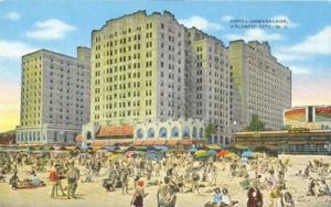 Hotel Ambassador, Atlantic City, N.J old unused Postcard