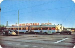 West Hempstead Long Island NY Empire State Diner Old Cars Postcard