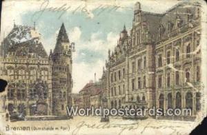 Bremen Germany, Deutschland Postcard Domshaide m Post  Domshaide m Post