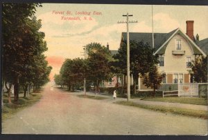 Nova Scotia YARMOUTH Forest Street looking East pm1908  Divided Back