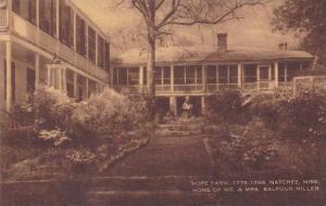Mississippi Natchez Hope Farm Home Of Mr And Mrs Balfour Miller Artvue
