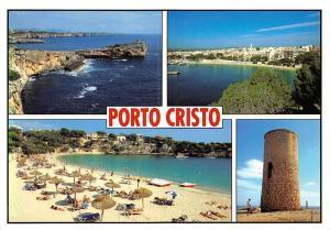 Spain Mallorca Porto Cristo multiviews Playa Beach Tower General view