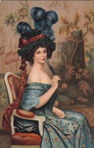 Abel Faivre La Femme A L'eventail Paris