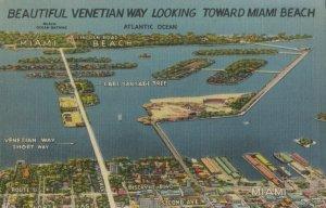 MIAMI BEACH , Florida, 1930-40s ; Venetian Way