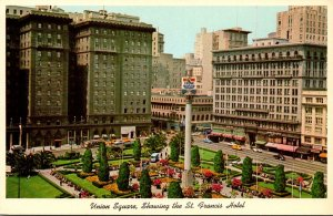 California San Francisco Union Square Showing The St Francis Hotel