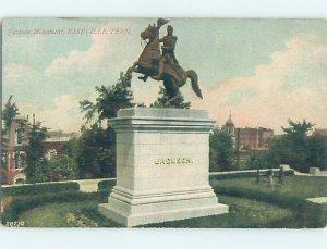 Divided-back CIVIL WAR MONUMENT Nashville Tennessee TN AE7996