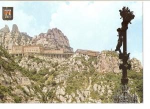 Postal 024169 : Vista del Monasteri des de el cami de la Cova - Montserrat