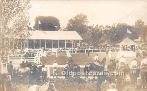 Horse Racing Real Photo Unused
