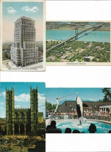 Canada Montreal Ontario and more Postcard Lot of 9 01.09
