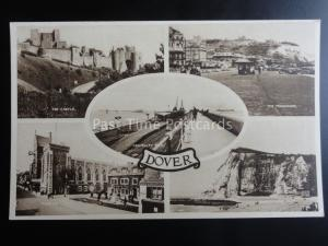 Kent DOVER 5 Image Multiview ADMIRALTY PIER & TOWN HALL Old Postcard by E.A.S.