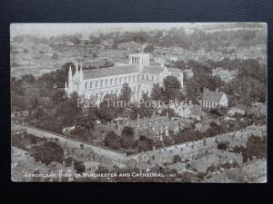 WINCHESTER CATHEDRAL From The Air c1920's PC by Aircraft Manufacturing Co. 391