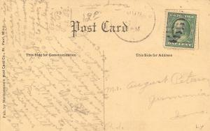 Germania Lakota Iowa~Men on Bandstand~Sauerkraut Day~First Rate Poem RPPC c1910