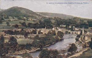 LLANGOLLEN: Castle Dinas & Town, Wales, United Kingdom, PU-1930