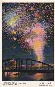 Fireworks, Sumida River , Tokyo , Japan , 1920-30s