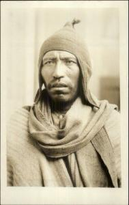 Bolivia? Native Man Close-Up Ethnography c1910 Real Photo Postcard dcn