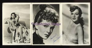 b6298 - Film Actress - Jean Kent - Fan Club Trio (signed?) - postcard