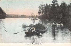 Readfield Maine Row Boat Waterfront Antique Postcard K78399