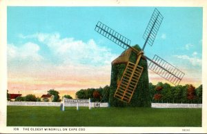 Massachusetts Cape Cod The Oldest Windmill