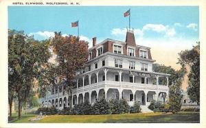 Wolfeboro New Hampshire~Hotel Elmwood~Two Story Wrap Around Porches~1920s PC