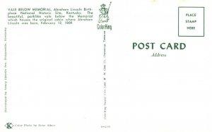 Vintage Postcard Vale Below Memorial Lincoln National Historic Site Kentucky KY