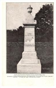 19936  CT Plainfield /  Central Village Gurdon Cady's  Monument Evergree...