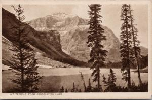 Mt. Temple from Consolation Lake Alberta AB Unused Byron Harmon Postcard E33