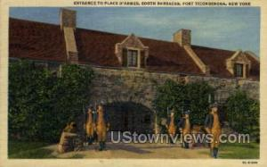 Place D'Armes, South Barracks Fort Ticonderoga NY Postal Used Unknown