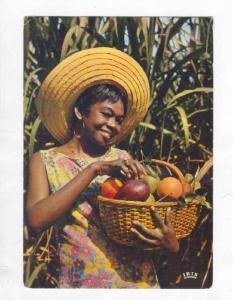 Young Girl with fruit, Caribbean, Le Noule, Guadelupe, PU-1976