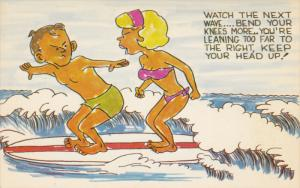 Angry Couple Surfing , 1940-1960s