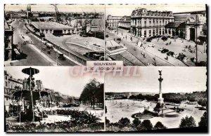 Modern Postcard Souvenir De Bordeaux Quinconces The Terrace St Jean station A...