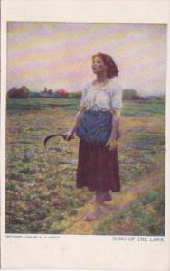 Woman In Field With Sickle Song Of The Lark