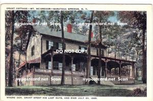 Grant's Cottage, Saratoga Springs NY,