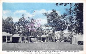 Tifton-Eldorado GA Tiftara Cabins~US Rt 41~Steam Heat~REAL Coffee 1941 Blue Sky
