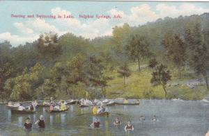 SULPHER SPRINGS, Arkansas,1900-1910s ; Boating & Swimming in Lake