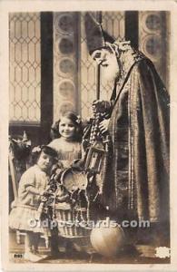 Santa Claus Postcard Old Vintage Christmas Post Card Real Photo 1915