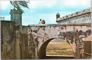 Arch supporting ramp to Castillo San Felipe del Morro, Old San Juan, Puerto Rico