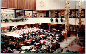 Minneapolis, Minnesota Postcard Sidewalk Café at SOUTHDALE CENTER Mall c1960s