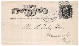 U.S. Postal Card, 1883, National Fire Insurance Company
