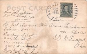 E81/ Salineville Ohio RPPC Postcard Columbiana Co 1908 Christian Church 12