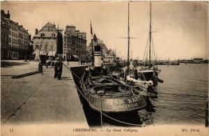 CPA  Cherbourg - Le Quai Caligny  (632791)