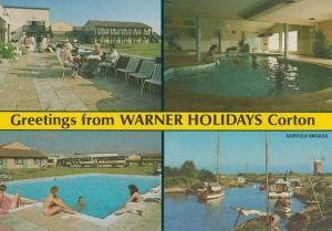 Warner Holiday Camp Corton Suffolk Coach Norfolk Broads Bar Chalet Postcard