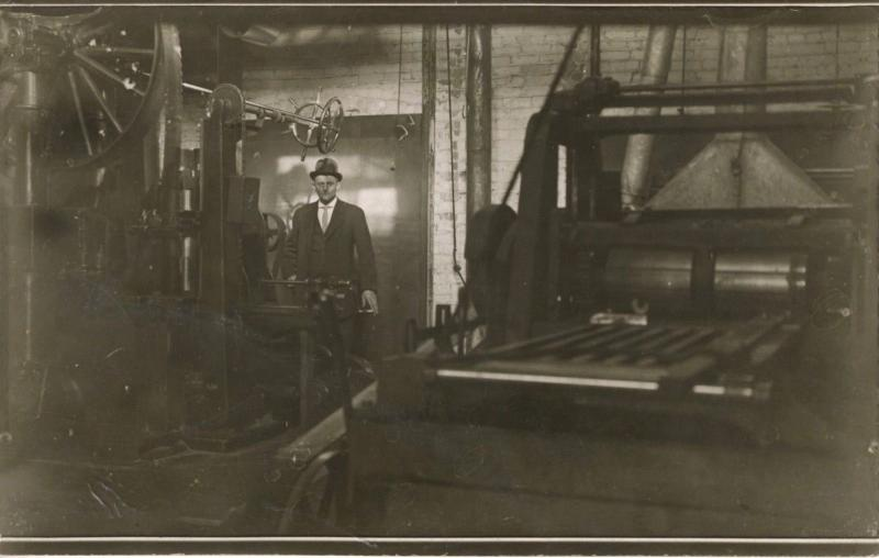 Portrait of Well Dressed Man In Work Environment ~ RPPC c1907-1917 Postcard