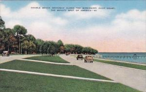 Double Beach Driveway Along The Mississippi Gulf Coast The Beauty Spot Of Ame...