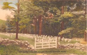 Cemetery Harvard Massachusetts MA USA Shaker Unused