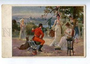 202741 GREAT DANE Military Man & BELLE Lady BEFAVORY Vintage