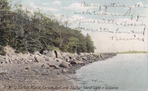 Barters Point And Southen Island Light In Distance, TENANTS HARBOR, Maine, 19...